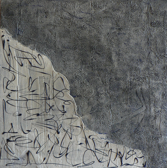 Untitled, cm 80×80, mixed tecniques on canvas, 2007