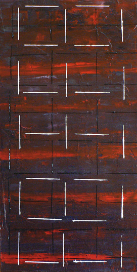 Untitled, cm 40×80, mixed tecniques on canvas, 2007