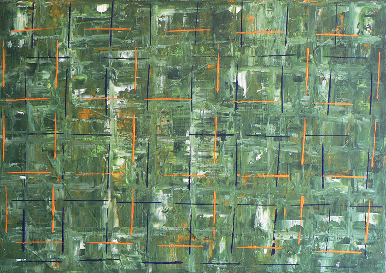 Untitled, cm 80×100, mixed tecniques on canvas, 2007